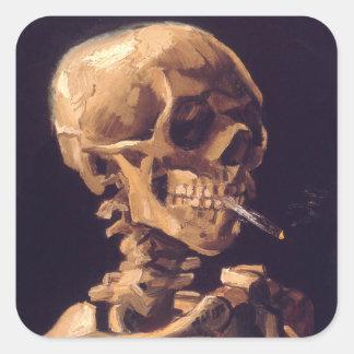 ゴッホ: Cigaretの燃焼のスカル スクエアシール