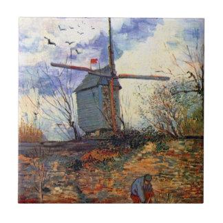 ゴッホ- Le Moulin DeのLaのGaletteの風車 タイル