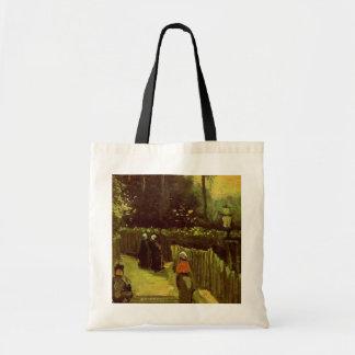 ゴッホ; Montmartreのヴィンテージの芸術の傾斜道 トートバッグ