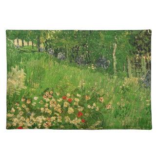 ゴッホDaubignyの庭、ヴィンテージのファインアート ランチョンマット