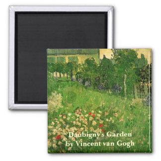 ゴッホDaubignyの庭、ヴィンテージのファインアート 冷蔵庫マグネット