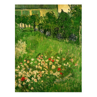 ゴッホDaubignyの庭、ヴィンテージのファインアート 葉書き