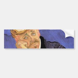 、ゴッホGachetのヴィンテージの印象主義の芸術博士 バンパーステッカー