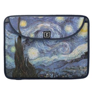 ゴッホMacの本の袖の星明かりの夜ヴィンテージの芸術 MacBook Proスリーブ