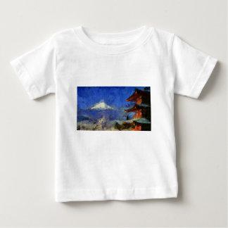 ゴッホMt富士日本 ベビーTシャツ