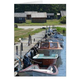 ゴトランド-小さなボート グリーティングカード