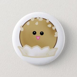 ゴマの球ボタン 5.7CM 丸型バッジ