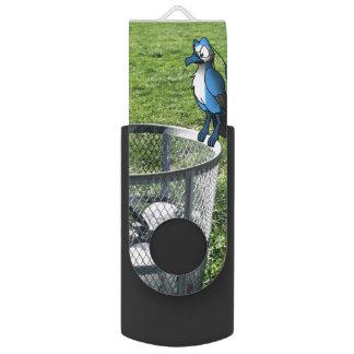 ゴミ箱の鳥の雑種 USBフラッシュドライブ