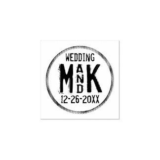 ゴム印を結婚する素朴なDIY -あなたの詳細を加えて下さい ラバースタンプ