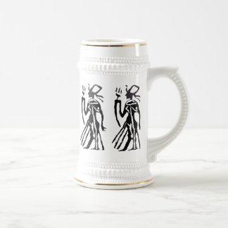 ゴム印、エジプトの彫像 ビールジョッキ