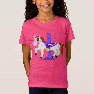 ゴム印、色の回転木馬の馬、 Tシャツ