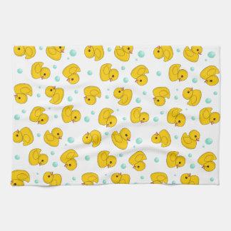 ゴム製アヒルパターン ハンドタオル