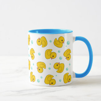 ゴム製アヒルパターン マグカップ