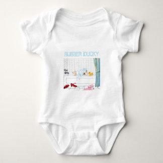 ゴム製ダッキーの赤ん坊のTシャツ ベビーボディスーツ