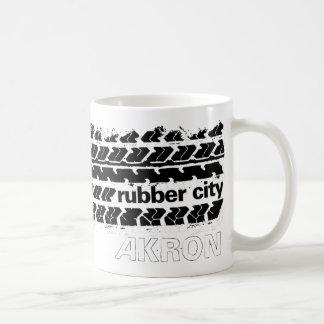 ゴム製都市タイヤの踏面 コーヒーマグカップ