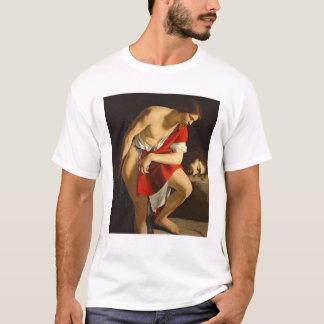ゴリアテの頭部を熟視しているデイヴィッド Tシャツ