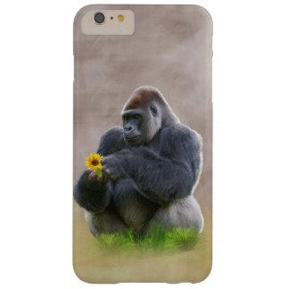 ゴリラおよび黄色いデイジー スキニー iPhone 6 PLUS ケース