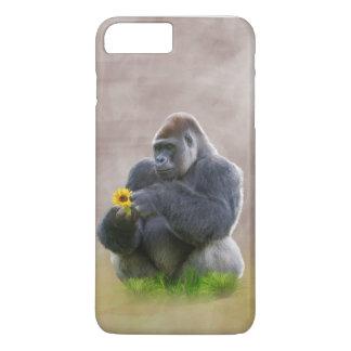 ゴリラおよび黄色いデイジー iPhone 7 PLUSケース