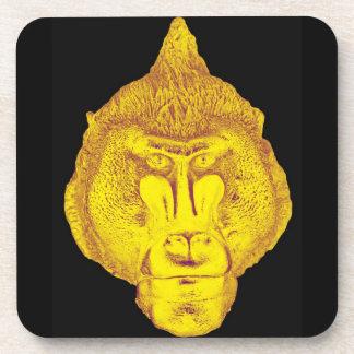 ゴリラかサルの黄色い終わりの上りの顔 コースター