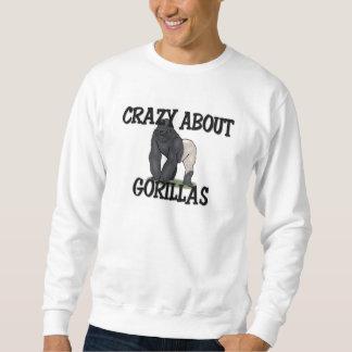 ゴリラについて熱狂する スウェットシャツ