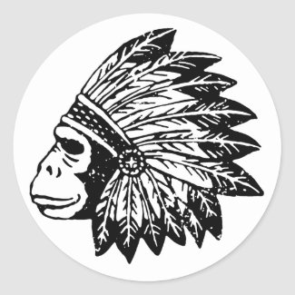 ゴリラのインディアン シール・ステッカー