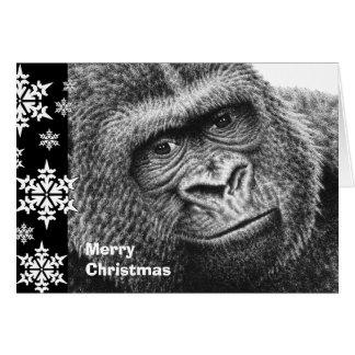 ゴリラのクリスマスカード カード