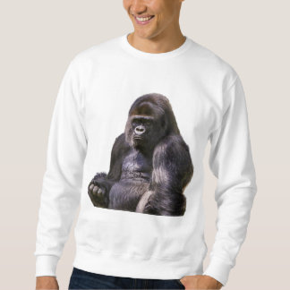 ゴリラのサル猿 スウェットシャツ