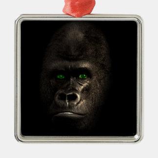 ゴリラのサル猿 メタルオーナメント