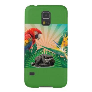 ゴリラのジャングルのオウム GALAXY S5 ケース