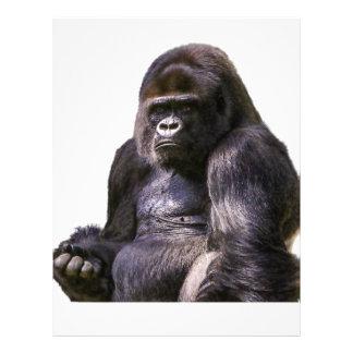 ゴリラ猿のサル レターヘッド