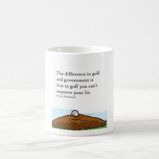 ゴルフおよび政府の相違 コーヒーマグカップ