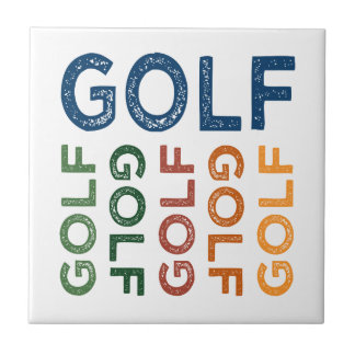 ゴルフかわいいカラフル タイル