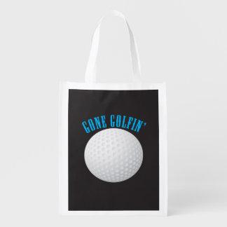 ゴルフによって行くゴルフをすること エコバッグ