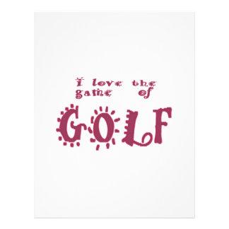 ゴルフのゲーム レターヘッド