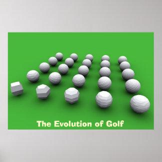 ゴルフの進化 ポスター