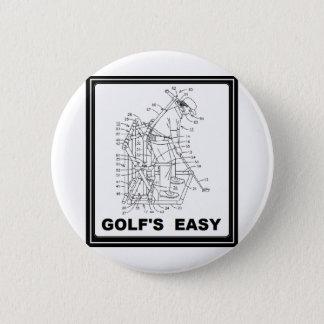 ゴルフは容易です 5.7CM 丸型バッジ