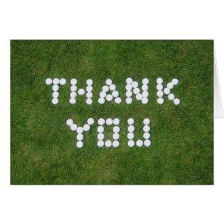 ゴルフは感謝していしています ノートカード