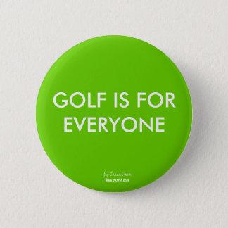 ゴルフは皆のためボタンです 5.7CM 丸型バッジ