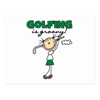 ゴルフをすることは素晴しいです はがき