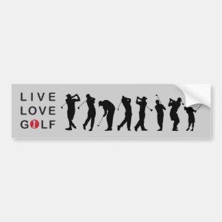 ゴルフをするゴルフバンパーステッカー バンパーステッカー