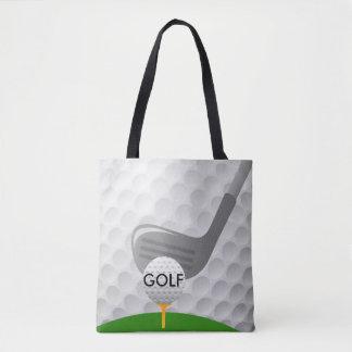 ゴルフをするデザインのトートバック トートバッグ
