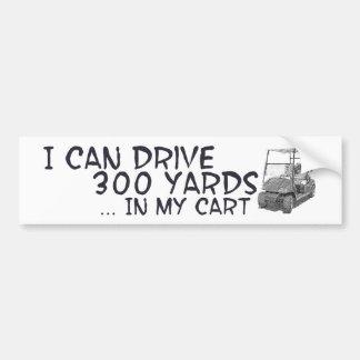 ゴルフをするドライブ バンパーステッカー