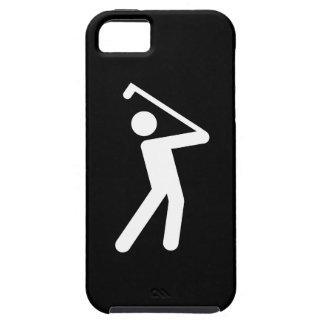 ゴルフをするピクトグラムのiPhone 5の場合 iPhone SE/5/5s ケース