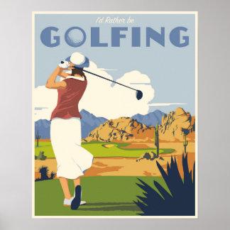ゴルフをするポスター ポスター