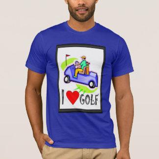 ゴルフをするTシャツ、私はゴルフ、乳母車を愛します Tシャツ