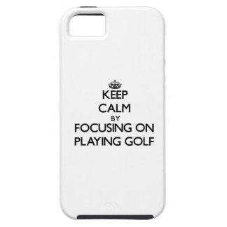 ゴルフを遊ぶことに焦点を合わせることによって平静を保って下さい iPhone SE/5/5s ケース