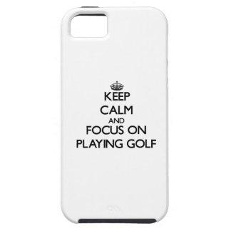 ゴルフを遊ぶことの平静そして焦点を保って下さい iPhone SE/5/5s ケース