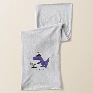 ゴルフを遊んでいるTrexの退職したな恐竜 スカーフ