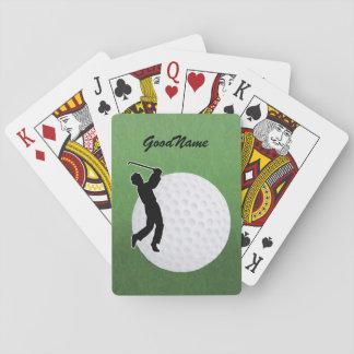ゴルファーのためのカードは名前と、個人化なります トランプ