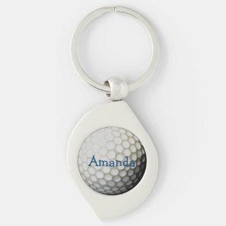 ゴルファーのための名前入りなkeychain キーホルダー
